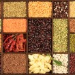 Beans and lentils. - Foto de Stock  