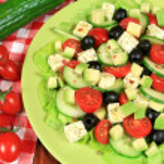 Salad with avocado — Stock Photo
