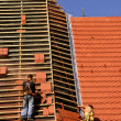 Stock Photo: Roofing construction works