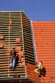 Roofing construction works — Stock Photo