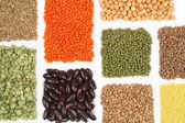 Soy, beans, rice — Stock Photo