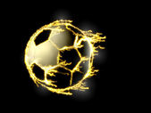 Soccer ball - electric eclipse — Stock Photo