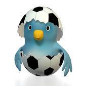 Bluebert - natural born footballer — Stock Photo