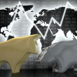Stock Photo: Bull and Bear (gold and silver)