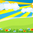 Stock Vector: Sunny meadow
