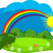 Royalty-Free Stock Vector Image: Rainbow after the rain