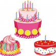 Birthday cake with congratulations — Stock Vector #8110354