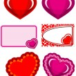 Stock Vector: Valentine hearts set