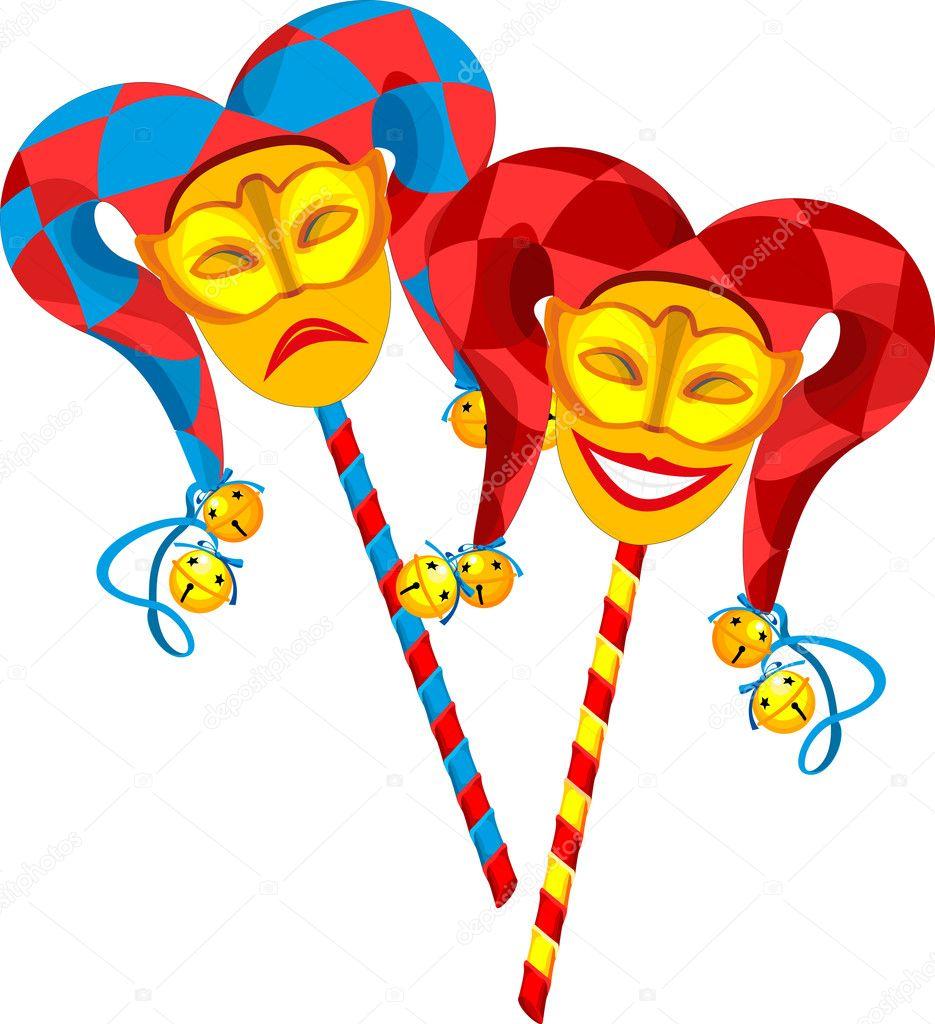 drama masks cartoon
