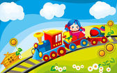 Toy train — Stock Vector