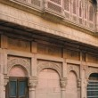 Stock Photo: Detail of house in Bikaner