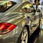 Silver sports car — Stock Photo