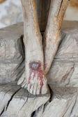 Drewniany krucyfiks — Zdjęcie stockowe