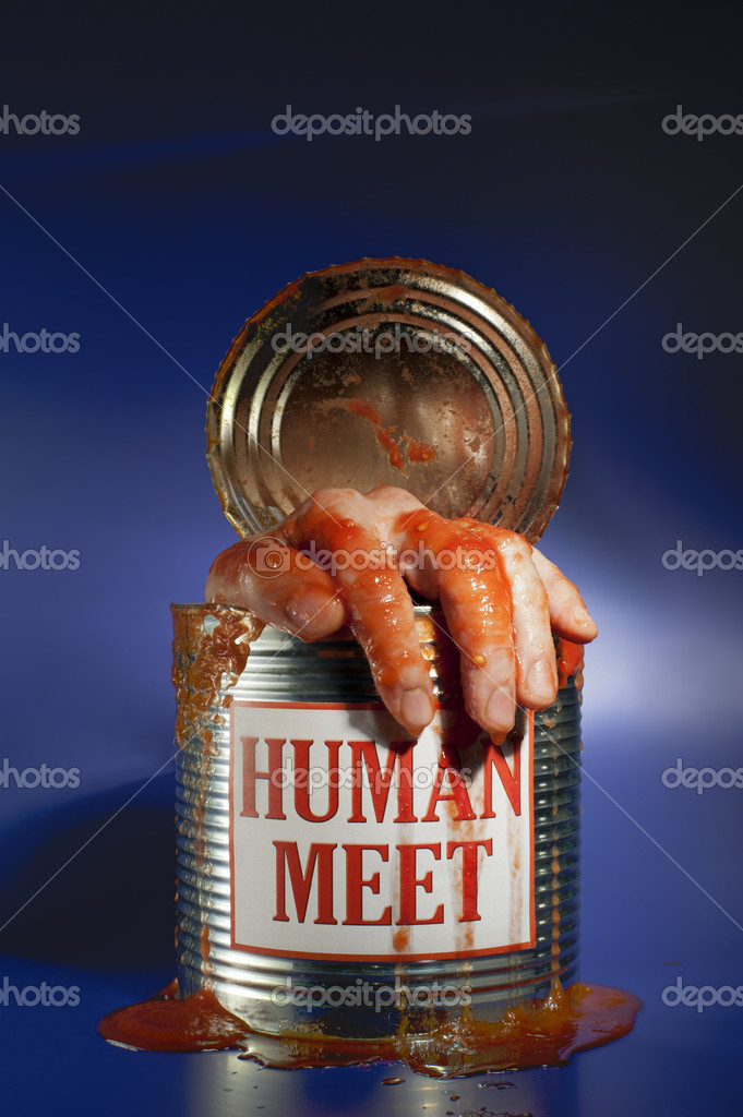 Human flesh in a box — Stock Photo #9007557