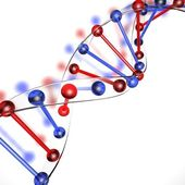 DNA structure made of glass — Stock Photo
