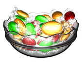 Sweets in a glass vase — Stock Photo