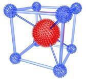 Molekulární cestě na bílém pozadí — Stock fotografie
