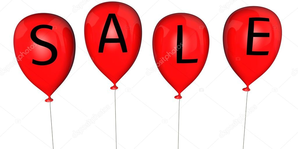 Balloons with an inscription - SALE — Stock Photo #9164670