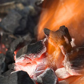 Burning Charcoal — Stock Photo