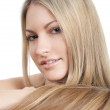 Beautiful woman with long hairs — Stock Photo #9303271