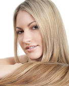 Beautiful woman with long hairs — Stock Photo