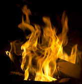 The flames in the fireplace — Stock Photo