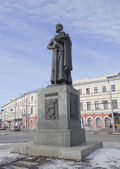 Russia. A monument to Yaroslav the Wise. Founder of the city of Yaroslavl — Stock Photo