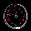 Abstract clocks, obtained with a freezelight photographic style — Stock Photo #10524998