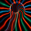 Streaky freezelight light patterns from long exposure — Stock Photo #10607167