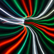 Streaky freezelight light patterns from long exposure — Stock Photo #10607185