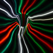 Streaky freezelight light patterns from long exposure — Stock Photo #10607236
