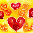Foto Stock: Heart watercolor