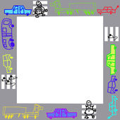 Photo frame or background for text, children's drawings — Stock Photo
