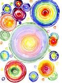 Watercolor a rainbow circles — Stock Photo