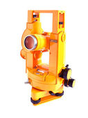 Yellow theodolite — Stock Photo