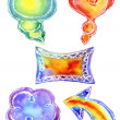 Watercolor Doodle frames — Stock Photo