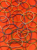Pozadí z mnoha pestrým psaní gumičky — Stock fotografie