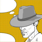 Cowboy pop art dialog — Foto de Stock
