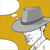Cowboy pop-art-dialogfeld — Stockfoto