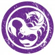 Zodiac sign Scorpio stamp — Stock Photo