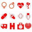 Medical icons — Stockfoto