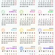 图库照片: 2013 calendar with zodiac signs