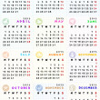 Stock Photo: 2013 calendar with zodiac signs