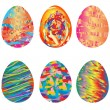 Easter painted eggs - Stok fotoğraf