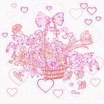 Valentine rococo basket — Stock Photo #10274281