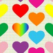 Valentine hearts pattern - Foto Stock