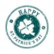 Royalty-Free Stock Photo: Saint patrick's day greeting stamp