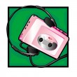 Walkman clip art — Stock Photo