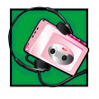 Stock Photo: Walkman clip art