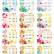Stock Photo: Calendar 2012 with zodiac signs